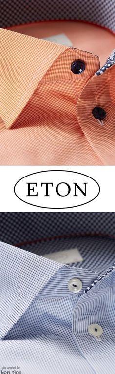 Eton Polka Dots Detail Shirts