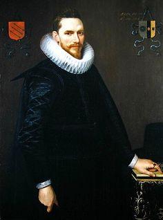 Afbeelding Cornelis van der Voort - Portrait of Adriaen de Kies van Wiessen, 1616 (see 307902 for pair)
