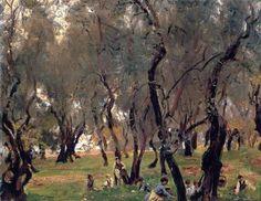 John Singer Sargent The Olive Grove, 1908