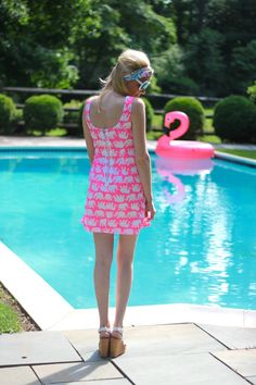 (dedicated to all those who care what i wear Xx) Preppy Dresses, Pink Outfits, Cool Outfits, Summer Outfits, Green Fashion, Girl Fashion, Preppy Must Haves, Resort Dresses, Summer Dresses For Women