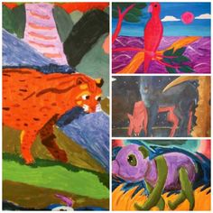 """Junior-high students paint colorful creatures à la Franz Marc in """"Marc'd Up Animals,"""" from our April 2013 issue."""