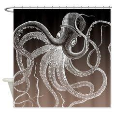 Sea Monster Shower Curtain