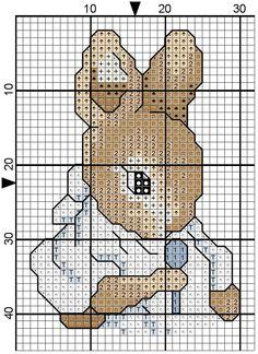 Ricami e schemi a Punto Croce gratuiti: Schemi a punto croce: teneri coniglietti