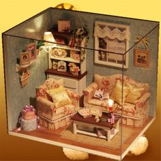 Cheap miniature window, Buy Quality miniature car directly from China miniature doll house furniture Suppliers: 													This is DIY room, and the theme isReunion With Happines. There's no place like home!		A charm from the skie