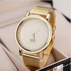 Women's Watch Fashionable Golden Case Alloy Band  – USD $ 3.99