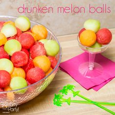 How to make Drunken Melon Balls! | Smarty Had A Party