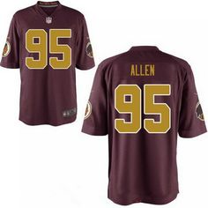 d043b4e43 Men's 2017 NFL Draft Washington Redskins Jonathan Allen Red with Gold  Alternate Stitched NFL Nike Elite Jersey