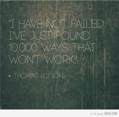 Thomas Edison - the greatest inventor of all time, I think.