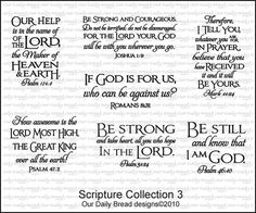 Our Daily Bread Designs Scripture Collection 3 - Cling Rubber Stamps - 123Stitch.com