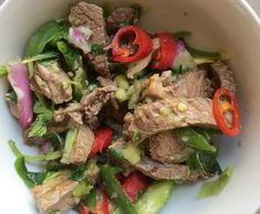 Recipe AUTHENTIC Thai Beef Salad by Aussie Thermomixer, learn to make this recipe easily in your kitchen machine and discover other Thermomix recipes in Main dishes - meat. Meat Recipes, Dinner Recipes, Cooking Recipes, Vegetable Sides, Vegetable Salad, Thai Beef Salad, Bellini Recipe, Australian Food, Chicken Bites