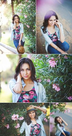 Erica Houck Photography senior portrait shoot photoshoot session flowers stylish pink