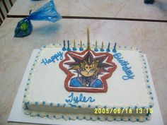 Yugioh cake - This is the cake I made for my 9 y/o son. Yugioh is a FBCT. The cake was butter with BC filling. All of the partygoer's raved about the FBCT! Got a few orders from this one!
