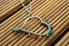 Chakra Herz Anhänger aus Argentium Silber von Galadryl Schmuckdesign - Handgefertigter Silber- und Kupfer Schmuck auf DaWanda.com