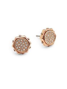 Swarovski Bolt Crystal Stud Earrings - Silver - Size No Size Jewelry Design Drawing, Diamond Earing, Italian Style, Discount Designer, Designs To Draw, Bracelet Watch, Swarovski, Stud Earrings, Jewellery