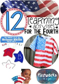 Fourth of July Learning Activities For Kids!!