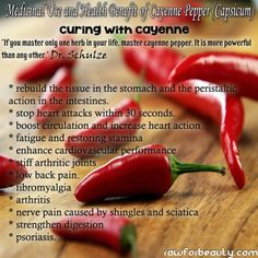Red pepper flakes can cut artery-clogging LDL cholesterol in as little as two weeks. Capsaicin helps your liver break down excess fats and is a very effective anit-inflammatory.