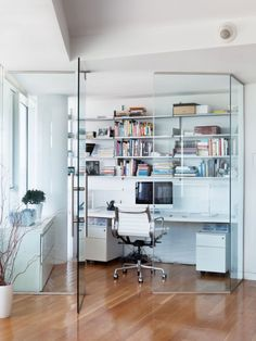 Glass enclosed office