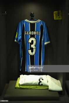 The shirt to be worn by Pedro Geromel of Gremio hangs in the dressing room  prior 9c194868e