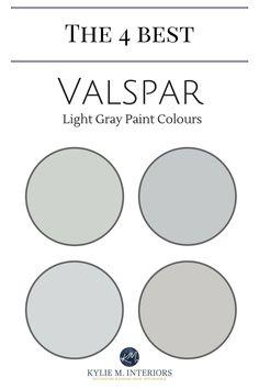 Valspar Paint 4 Best Light Gray Colours