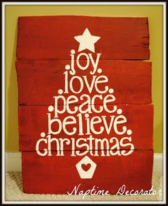 Girls' Craft Night: check bottom of post for other 9 craft might ideas Christmas Words, Christmas Love, Christmas Signs, Christmas And New Year, All Things Christmas, Winter Christmas, Christmas Ideas, Merry Christmas, Girls Night Crafts