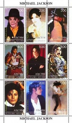 Stamps featuring Michael Jackson