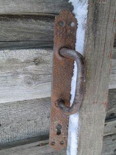 Vintage round carved metal door knob one side brass door handles Soviet metal doorknob  USSR door handle Rustic handles Vintage 1970s