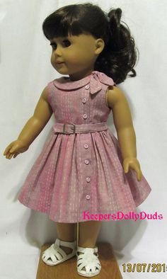 1950's Side Tie Collar Dress Clothes Made to by KeepersDollyDuds