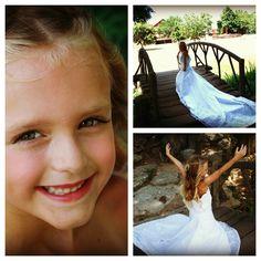 daughter in mothers wedding dress!