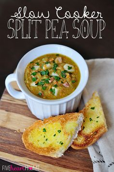 Slow Cooker Split Pea Soup - I grew up on Split Pea Soup, can't wait to try this one!