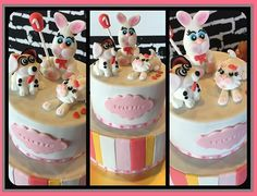 This is for a cutie pie who turned one recently... #birthdaycake #bunnytopper #cattopper #dogtopper