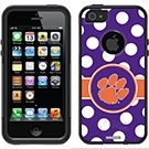 """""""Clemson - Polka Dots"""" Clemson design on OtterBox® Commuter Series® Case for iPhone 5 in Black"""