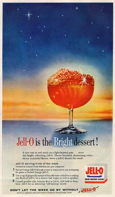 Wise Men, look! A guiding star! Stop for some Jell-O along the way! Jello Recipes, Old Recipes, Vintage Recipes, Jello Desserts, Family Recipes, Vintage Ads, Vintage Prints, Vintage Posters, Vintage Food