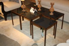 Beeline Home-Hamilton Street  These gorgeous and chic tiny tables by Bunny Williams can work together as a cocktail table or stand alone...to die for!  #hpmkt