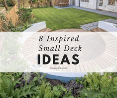 8 Inspired Small Deck Ideas Small Space Living, Small Spaces, Stepping Stones, Summer Time, Beautiful Homes, Lawn, Home And Garden, House Design, Decking