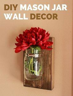 How to Make DIY Mason Jar Wall Decor | My Home Decor Guide