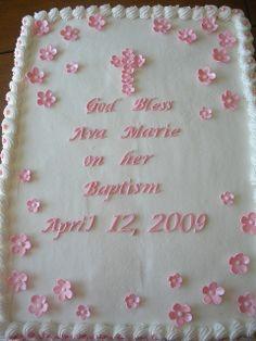 Girls Baptism Cake by Tasty Cakes by Jennifer, via Flickr