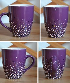 Yes, another mug post. I know...I'm a bit obsessed. But who cares? :D I love making them. I only have one in-the-making shot, because I ...