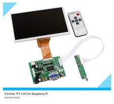 New 9''Inches Raspberry Pi LCD Display Screen TFT Monitor AT090TN12 LCD with HDMI VGA Input Driver Board Controller