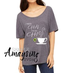 Chai SVG is perfect for Tshirts, Cards, Tai chi projects and more. Chai Tea is so popular that this design will make a wonderful addition to anyones catalog. Workout clothes, Yoga Tshirts and essentials are perfect for this SVG.  More Tshirt SVGs: http://etsy.me/2mzzQUH  This Design does not contain editable Text. All text sections are unioned as one piece for compatibility across software platforms.  This Listing includes: 1 SVG, 1 DXF 1 EPS & 1 PNG in a zipfile.  For use ...
