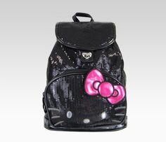 Hello Kitty Mini Backpack: Black Sequin  Item #09157  NEW  $48.00