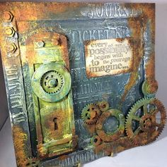 Isle of Crafty Creations: Mixed Media Monday: Industrial Elements