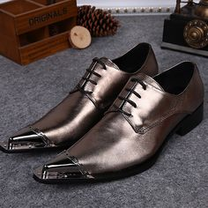 Cheap shoes business, Buy Quality shoes casual directly from China shoes dress shoe Suppliers: 2017 Fashion Shinny Sliver Mens Wedding Shoes Dress Shoes Casual Business Shoes Flats Genuine Leather Mens Shoes Plus Size Gold Dress Shoes, Oxford Shoes Outfit, Men's Shoes, Dress Flats, Clarks, Business Casual Shoes, Business Formal, Cowboy Shoes, Men's Wedding Shoes