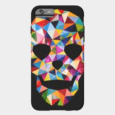 Head Space Samsung Case by Fimbis  ///   Also available as a T Shirt, Art Print, Phone Case, Tank Top, Crew Neck, Pullover, Zip, and Sticker.  ///    #geometric #colourful #colorful #Samsung #Smasunggalaxy #geometric #portrait #pastel #Skull