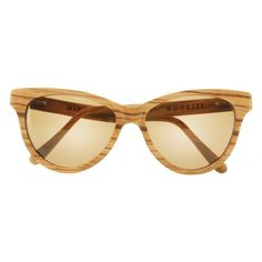 Mishka Zebra Wood Sunglasses - Bronze | Woodzee.com