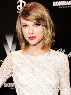 Taylor Swift 1989 Red Lips Penteados para Cabelos Curtos Corte de cabelo curto. Bob hair, mob hairstyle!Oh, Lolla