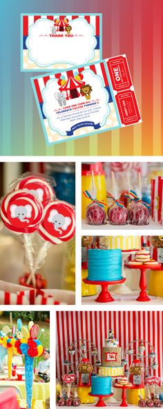 Circus birthday Party, Circus Invitation by GardellaGlobal, $6.00