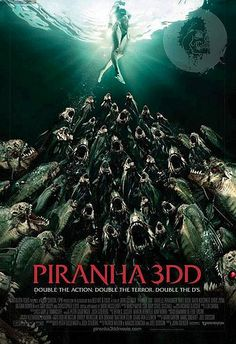 Piranha 3DD Poster - John Gulager directs this 3D sequel with the deadly fish looking to feast on more human prey.