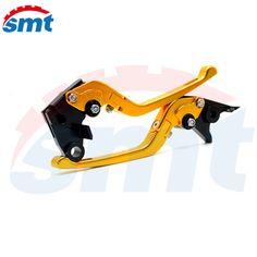 New Anti-Slip Motorcycle Adjustable CNC 3D Folding Brake Clutch Levers Golden Color  For Honda CBR250R CBR300R CBR500R CB500F #Affiliate