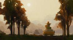 """Afternoon Travel"" | Illustrator: Joey Chou - www.joeyart.com"