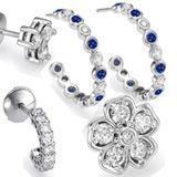 Diamond earrings � Diamond Hoops and more